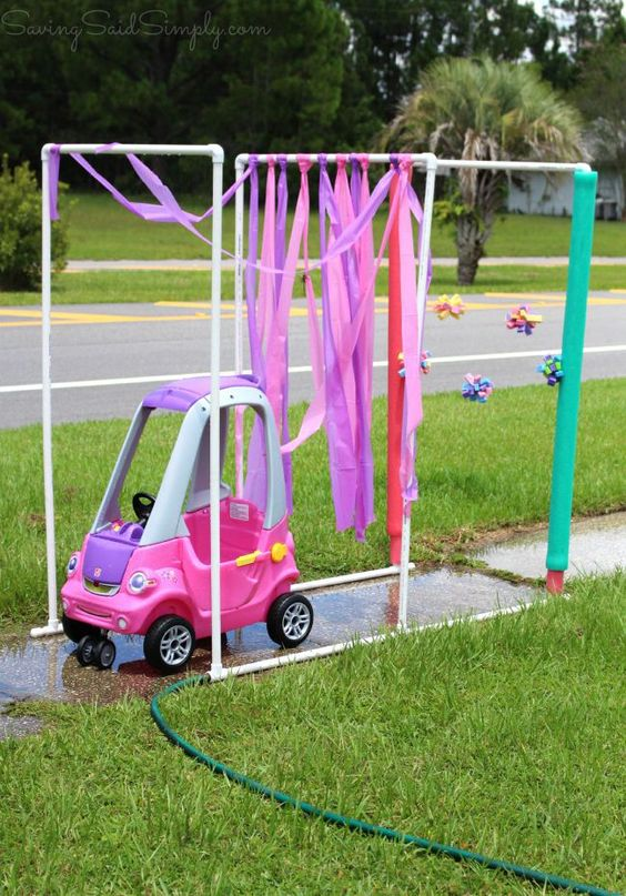 diy kids car wash cozy coupe, awesome ideas to keep kids busy summer, backyard party ideas , Best summer backyard games and outdoor activities for kids, diy summer projects for kids,fun ideas for kids summer , fun summer ideas for children, lots of summer activities for kids, outdoor games for summer,