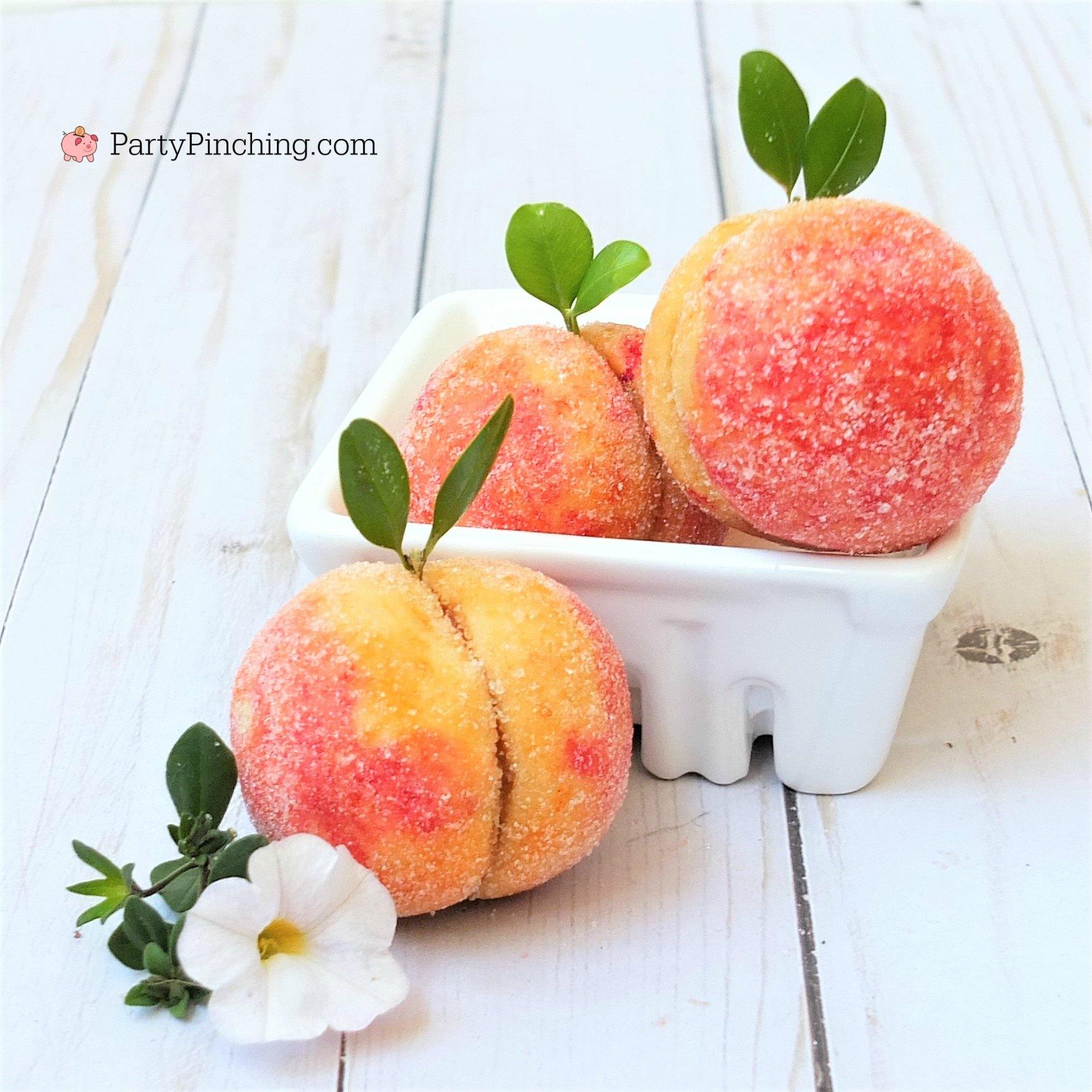 peach cookies, cute summer cookies, Georgia peach cookies, Russian peach cookies, peach sugar cookies, cookies look like peaches, summer dessert picnic potluck food ideas
