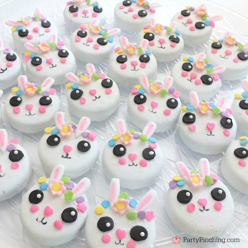 Easter bunny oreos, best Easter bunny cookies recipe, easy simple Easter  cute bunny cookies