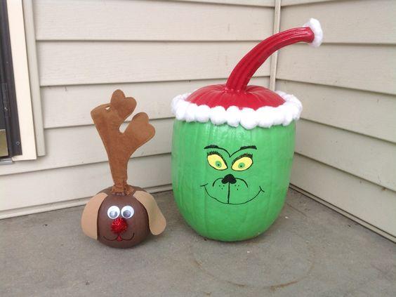 grinch pumpkin, painted pumpkin, carved pumpkin ideas, Halloween pumpkins, cute pumpkins, pumpkin decorating ideas for kids, easy pumpkin decorating ideas, Halloween party ideas, pumpkin decorating ideas, no-carve pumpkins