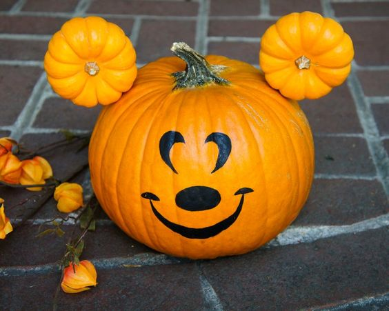 mickey mouse pumpkin, painted pumpkin, carved pumpkin ideas, Halloween pumpkins, cute pumpkins, pumpkin decorating ideas for kids, easy pumpkin decorating ideas, Halloween party ideas, pumpkin decorating ideas, no-carve pumpkins