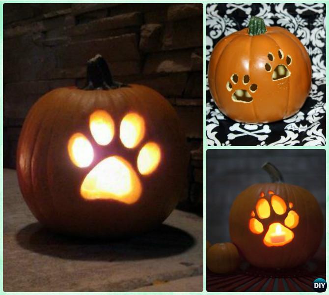 paw print dog pumpkin, painted pumpkin, carved pumpkin ideas, Halloween pumpkins, cute pumpkins, pumpkin decorating ideas for kids, easy pumpkin decorating ideas, Halloween party ideas, pumpkin decorating ideas, no-carve pumpkins