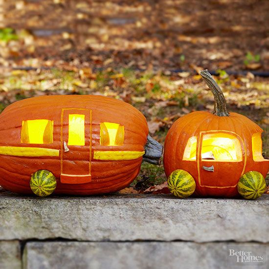 car and trailer pumpkin, painted pumpkin, carved pumpkin ideas, Halloween pumpkins, cute pumpkins, pumpkin decorating ideas for kids, easy pumpkin decorating ideas, Halloween party ideas, pumpkin decorating ideas, no-carve pumpkins