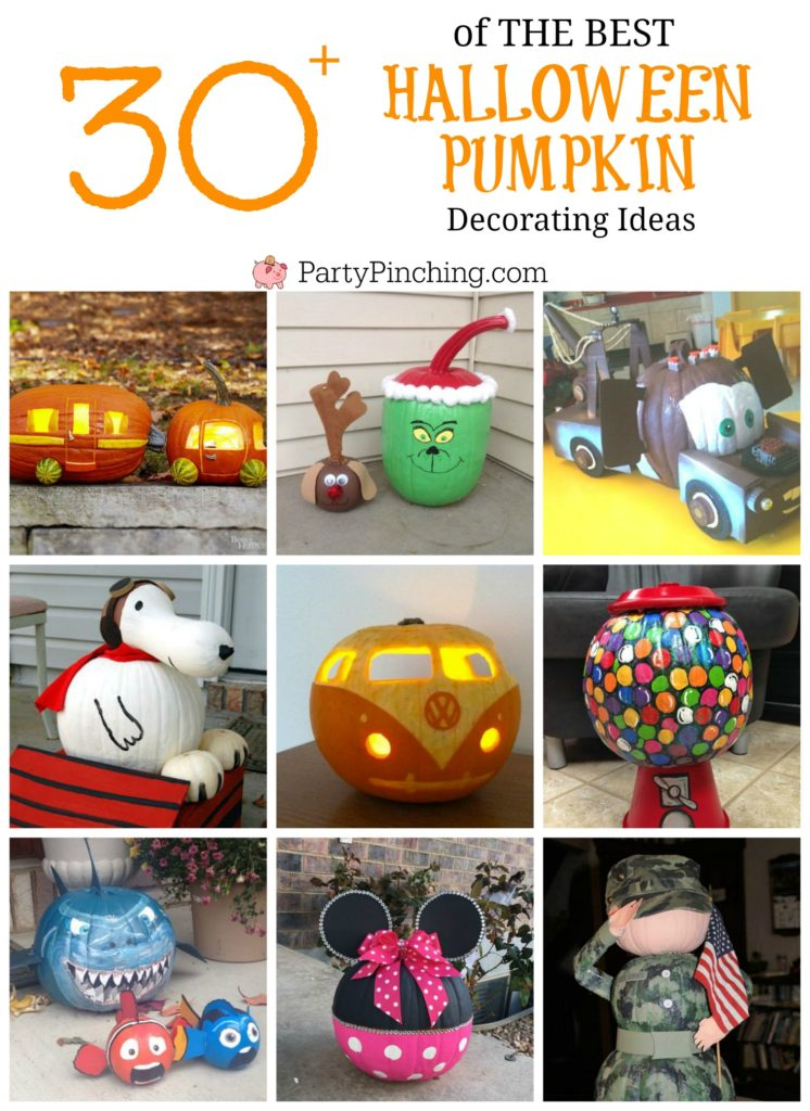 painted pumpkin, carved pumpkin ideas, Halloween pumpkins, cute pumpkins, pumpkin decorating ideas for kids, easy pumpkin decorating ideas, Halloween party ideas, pumpkin decorating ideas, no-carve pumpkins