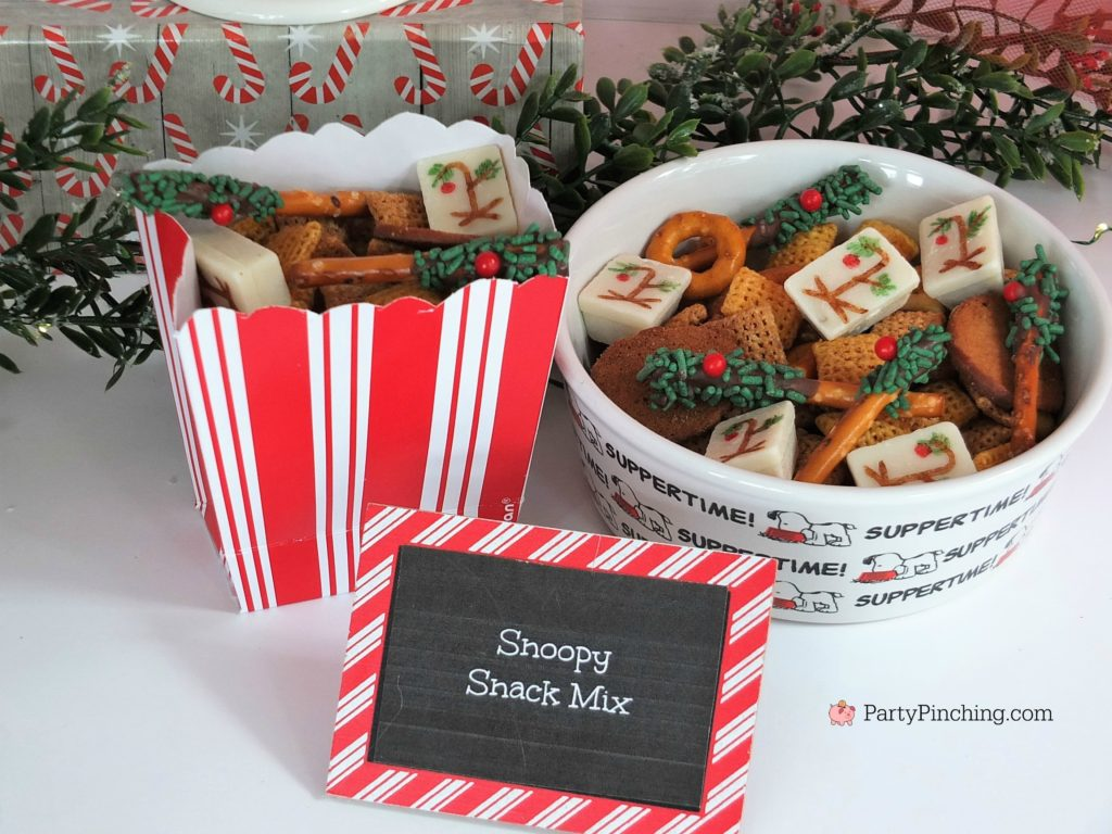 snoopy snack mix, Christmas movie marathon, Christmas movie night party ideas, Rudolph treats, Bumble Abominable snowman donuts, Charlie Brown Christmas movie party, Charlie Brownies, Snoopy snack mix, Frosty popcosrn, Frosty cheese snacks, Grinch party ideas, Buddy the Elf food, Elf beef and cheese, Elf Candy Cane Forest
