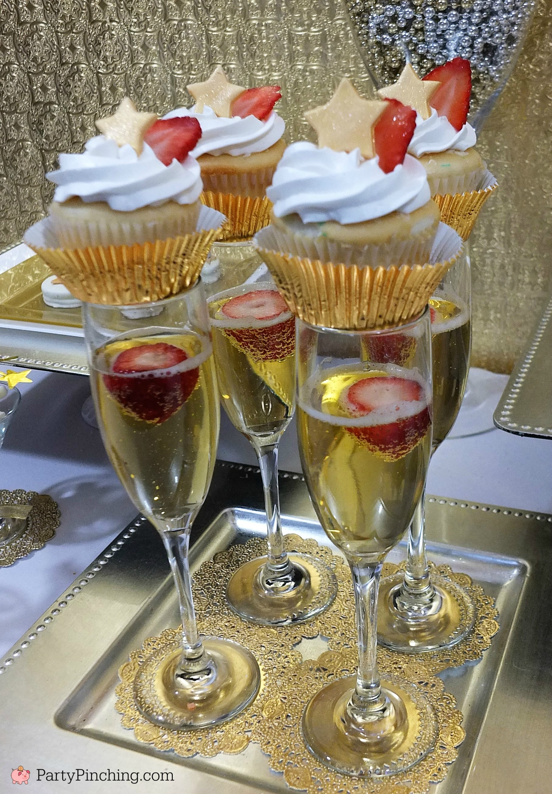Champagne Cupcakes for special occasions New Year's Eve ...