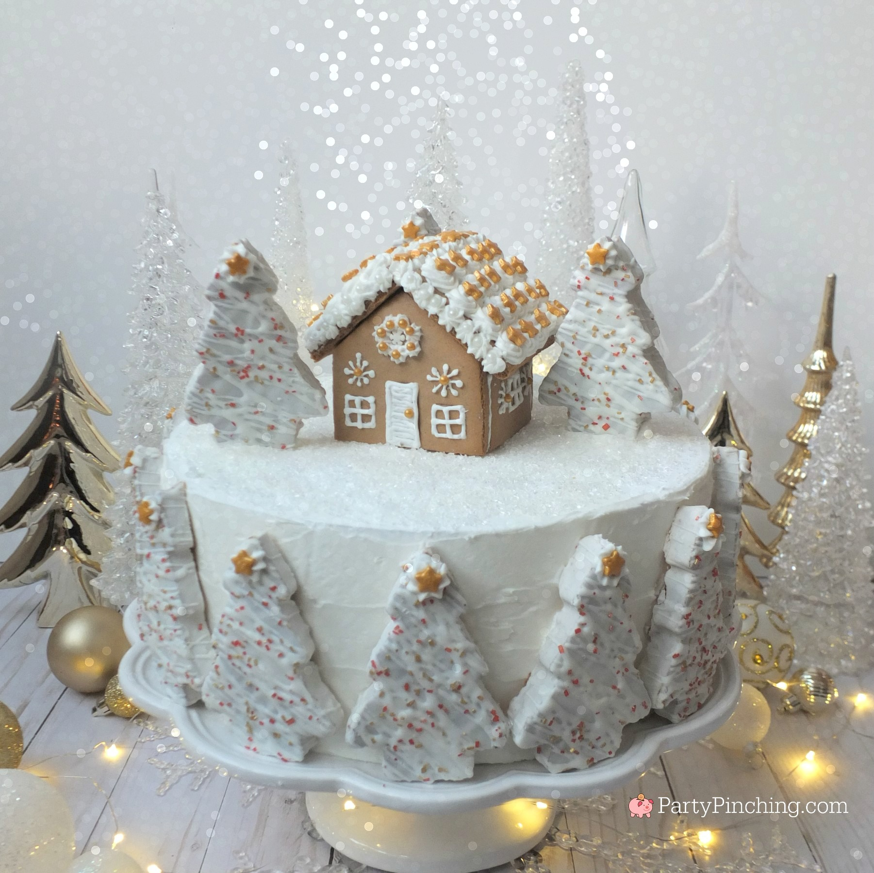 Winter Wonderland Holiday Spice Cake For Christmas