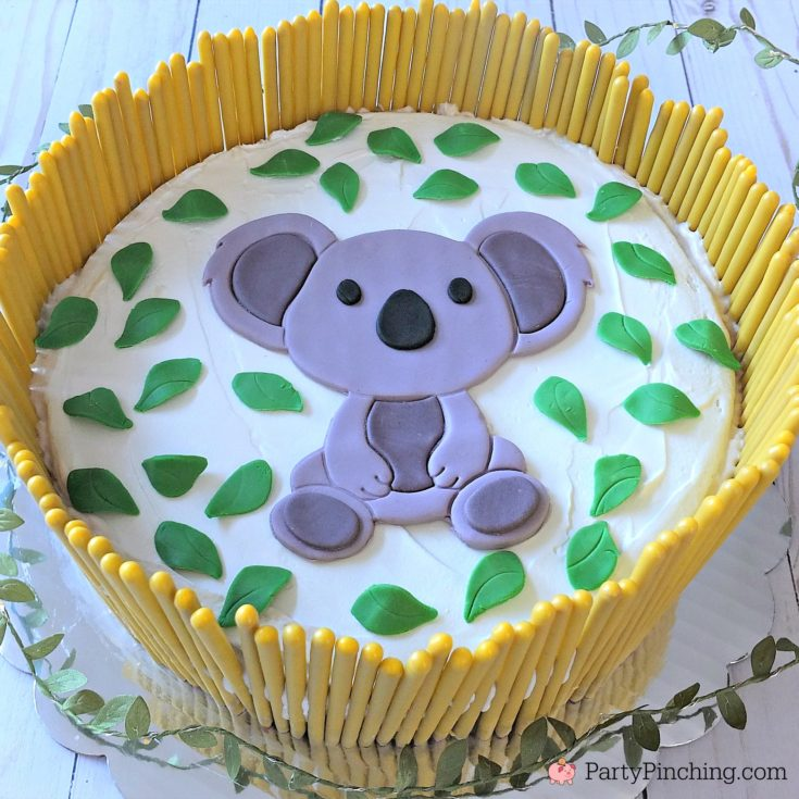 koala cake, cute koala cake, fondant koala, banana cake, peanut butter cake, peanut butter banana cake, peanut butter banana ice cream cake, Austrailia day cake food recipe ideas, banana cake recipe, best cake recipes
