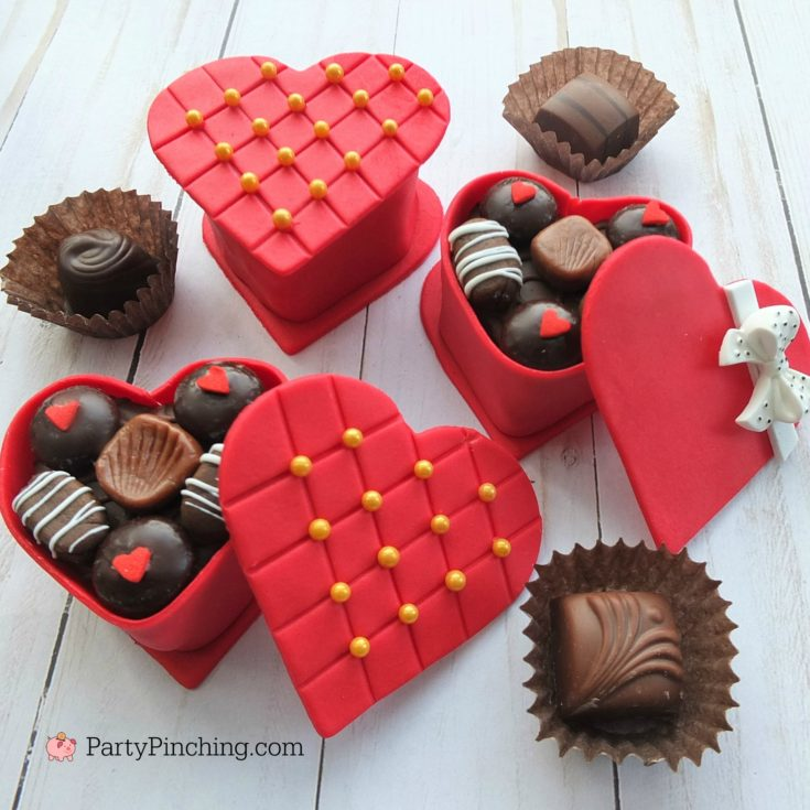 Mini Valentine Candy Box Cakes