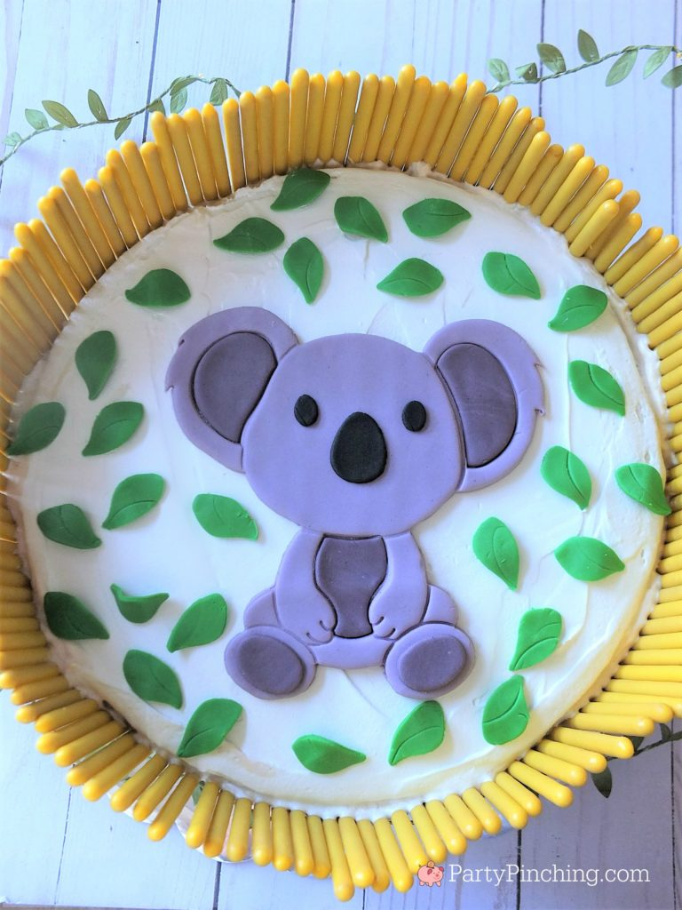 koala cake, cute koala cake, fondant koala, banana cake, peanut butter cake, peanut butter banana cake, peanut butter banana ice cream cake, Austrailia day cake food recipe ideas, banana cake recipe, best cake recipes