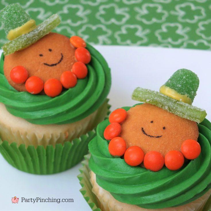 Leprechaun Cookie Cupcakes