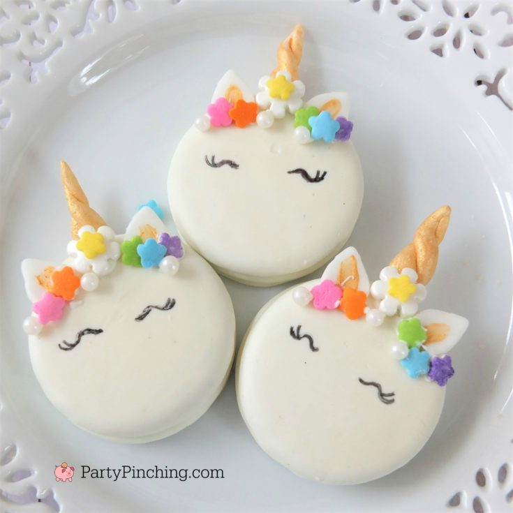 Rainbow Unicorn Oreo Cookies