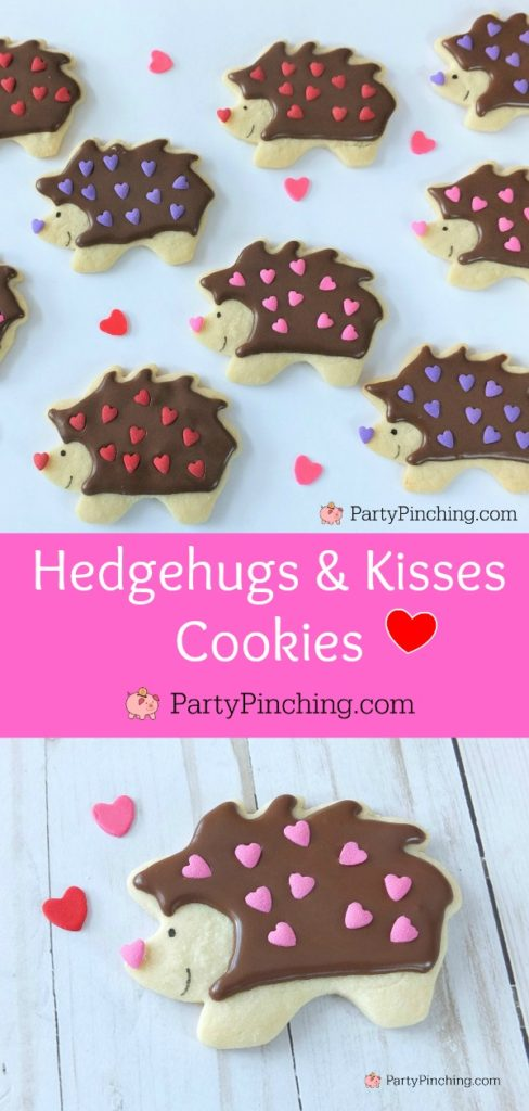 best valentines gifts for him 2020,hedgehog cookies, best hedgehog cookie recipe, best Valentine's day cookie recipes, cute adorable Valentine's Day cookies, cute food, fun food for kids, kid friendly food, Valentine food party dessert ideas