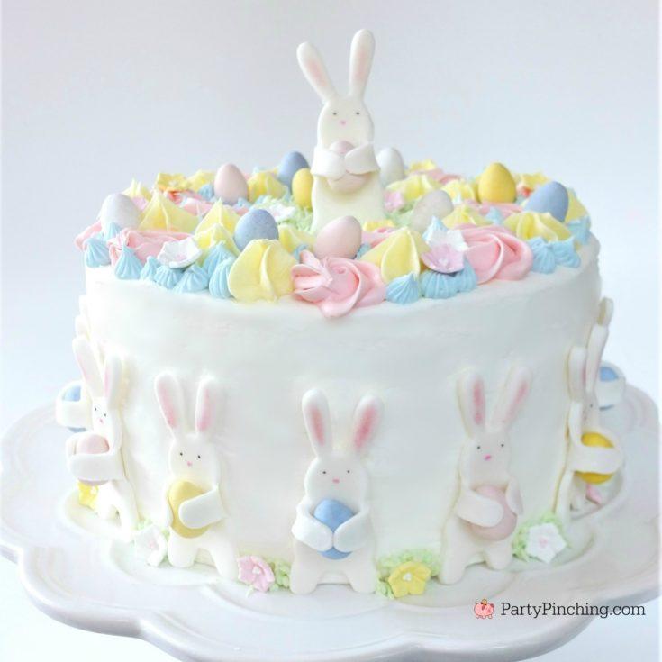 Bunny Egg Hunt Cake