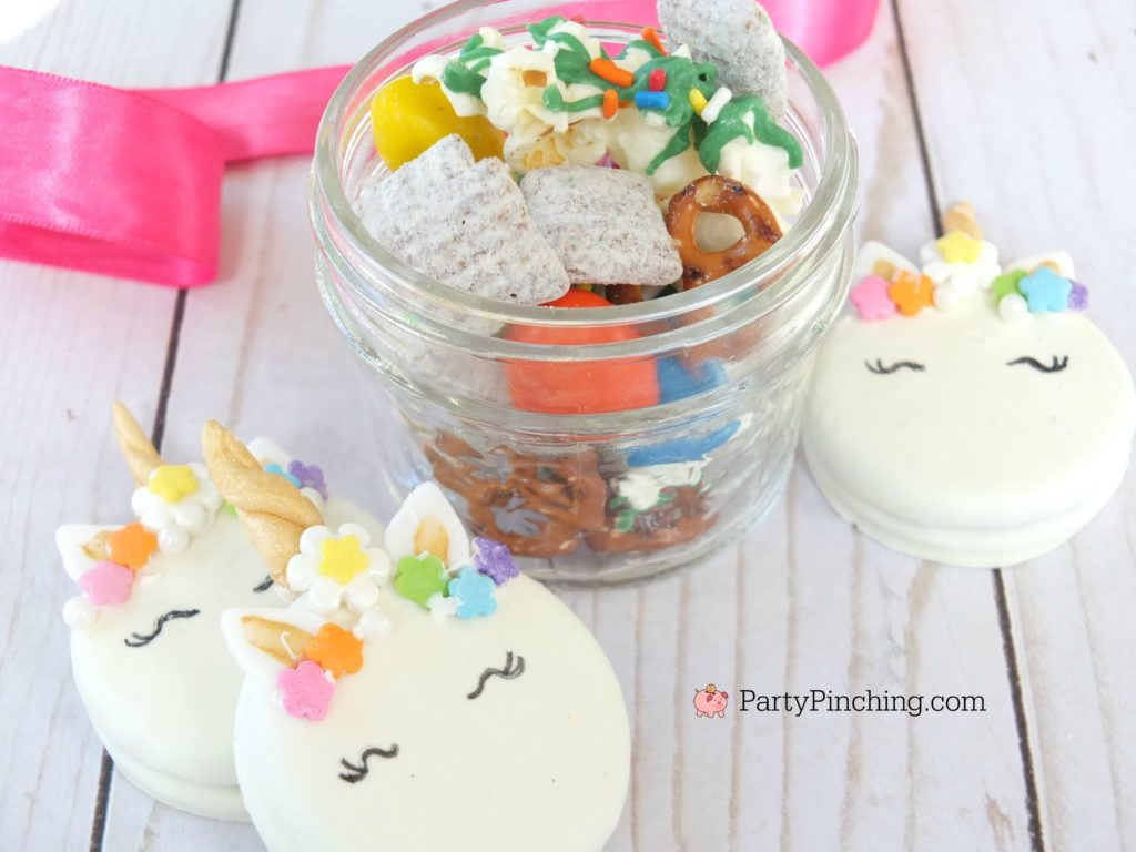 best puppy chow recipe, rainbow puppy chow muddy buddies, unicorn puppy chow, st. patrick's day puppy chow, cute food, peanut butter chocolate puppy chow recipe, best easy puppy chow recipe