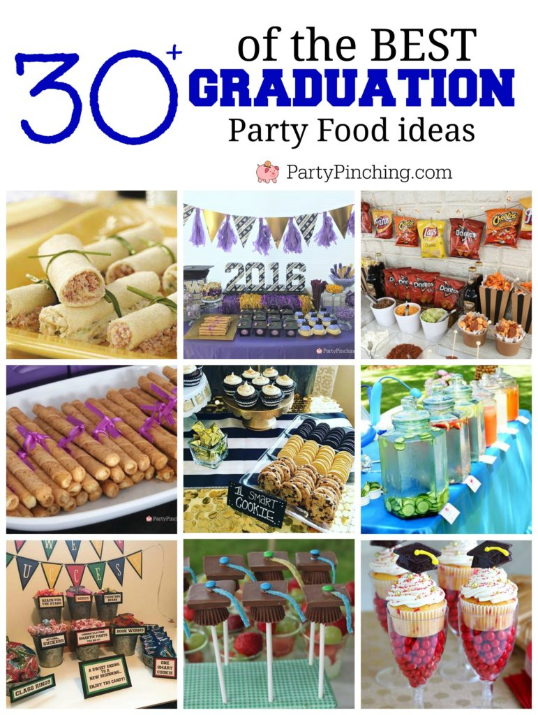 Best Graduation Party Food Ideas, food grad guests will love, fun easy graduate party food buffets, grad food drink bars, best graduation cakes cupcakes desserts cookies, fun graduation open house food, inexpensive cheap grad party ideas for teens