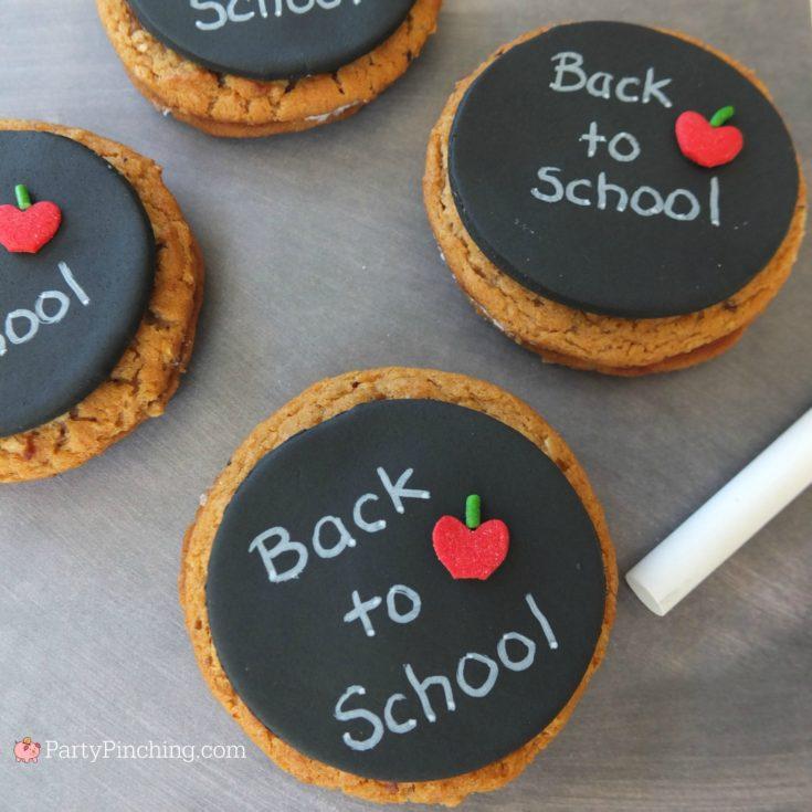Chalkboard Oatmeal Creme Pies