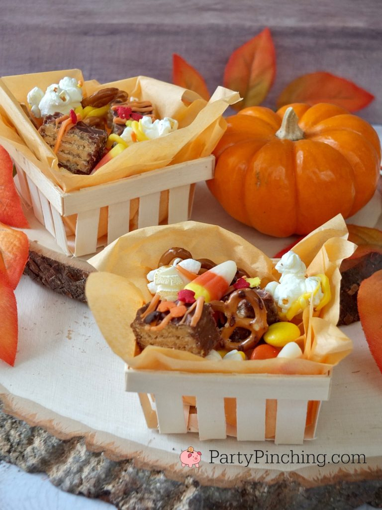 Nutty Buddy Fall Snack Mix, harvest snack mix, best snack mix, Chex puppy chow mix, harvest Halloween party ideas, best food recipes for Halloween