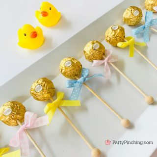 Ferrero Rocher Baby Rattle Party Treats Best DIY Baby Shower Ideas