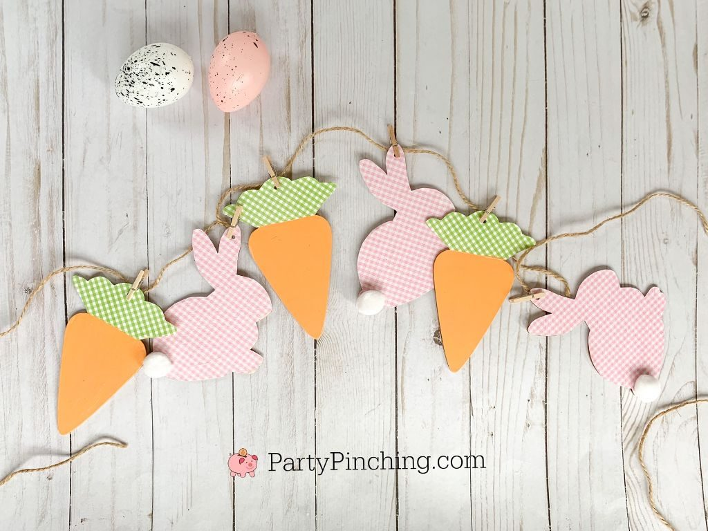 Dollar Tree DIY, Dollar Tree crafts, Easter Dollar store, dollar general diy, cheap inexpensive dollar store decor, budget crafts, bunny banner