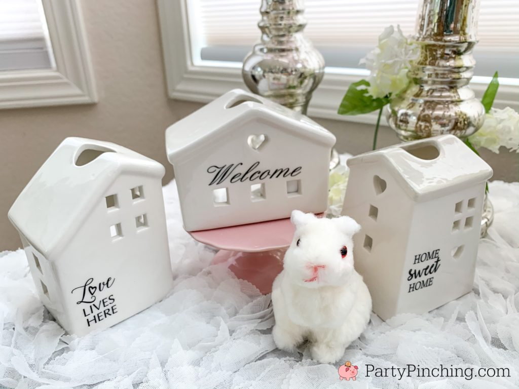 Dollar Tree DIY, Dollar Tree crafts, Easter Dollar store, dollar general diy, cheap inexpensive dollar store decor, budget crafts, bunny banner, beautiful centerpeice dollar tree Easter bunny