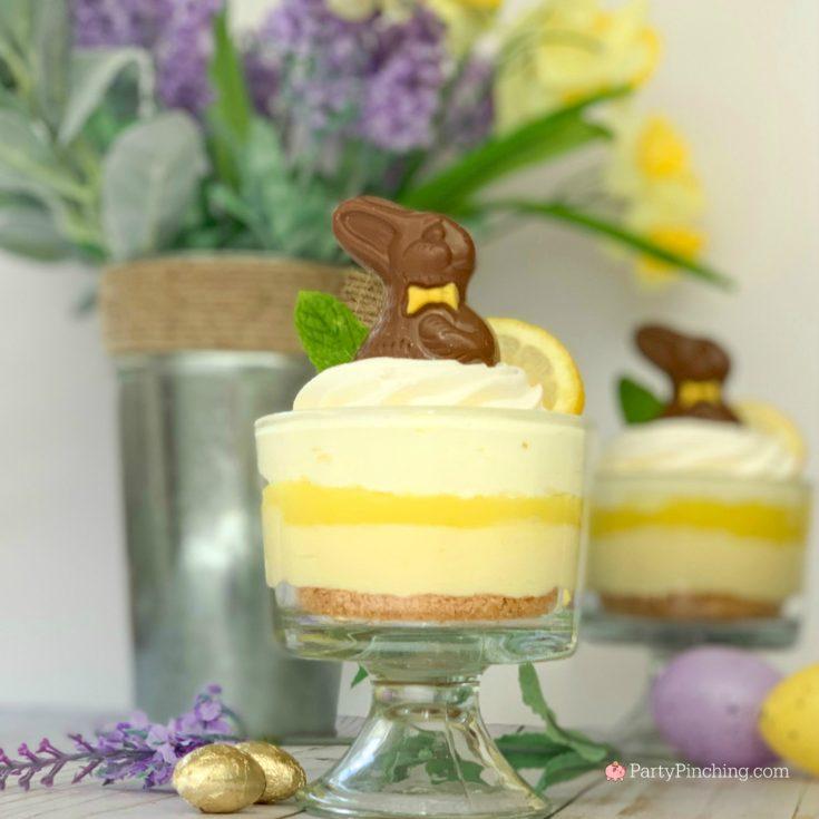 Easter Lemon Cheesecake Parfaits