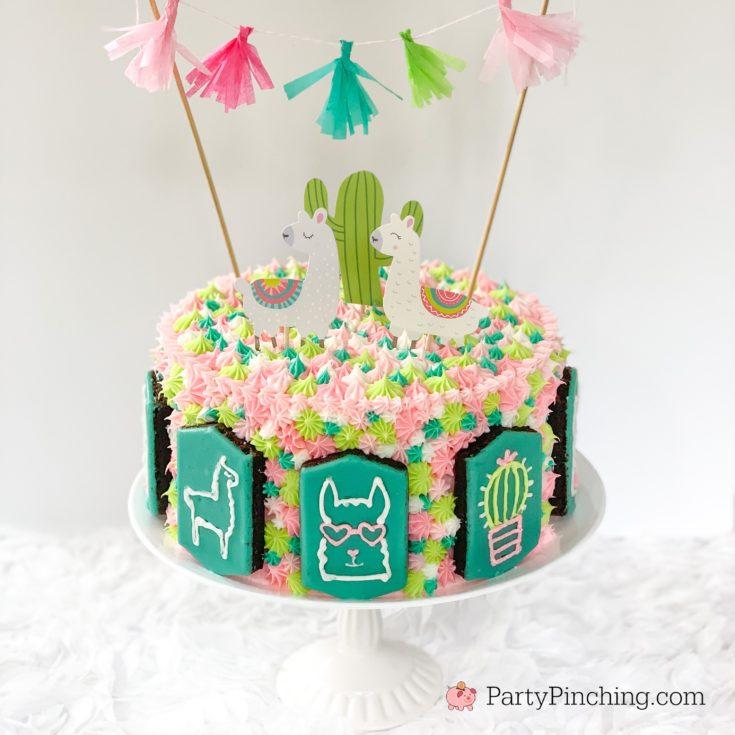 Llama Brownie Cake