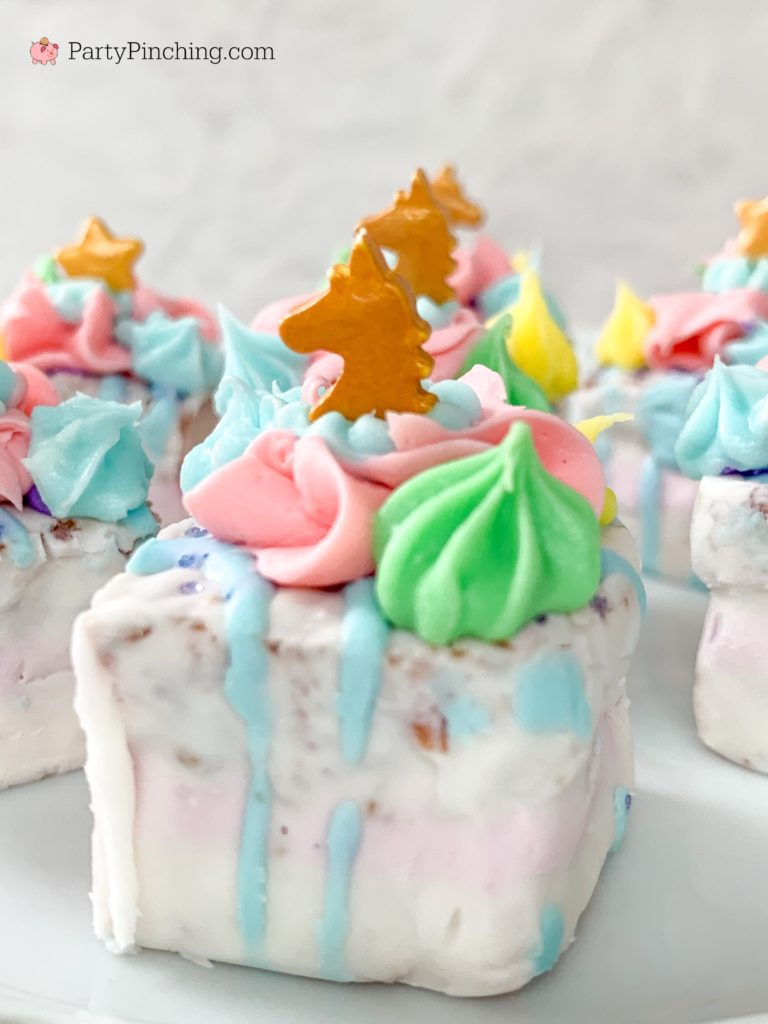 Unicorn Tea Cakes, Best Unicorn Cake Recipe, Unicorn Cupcake Ideas for Kids, Easy Petit Fours Recipe, Best Unicorn Party Ideas for Kids, Best Tea Party Ideas, Little Debbie Unicorn Cakes,