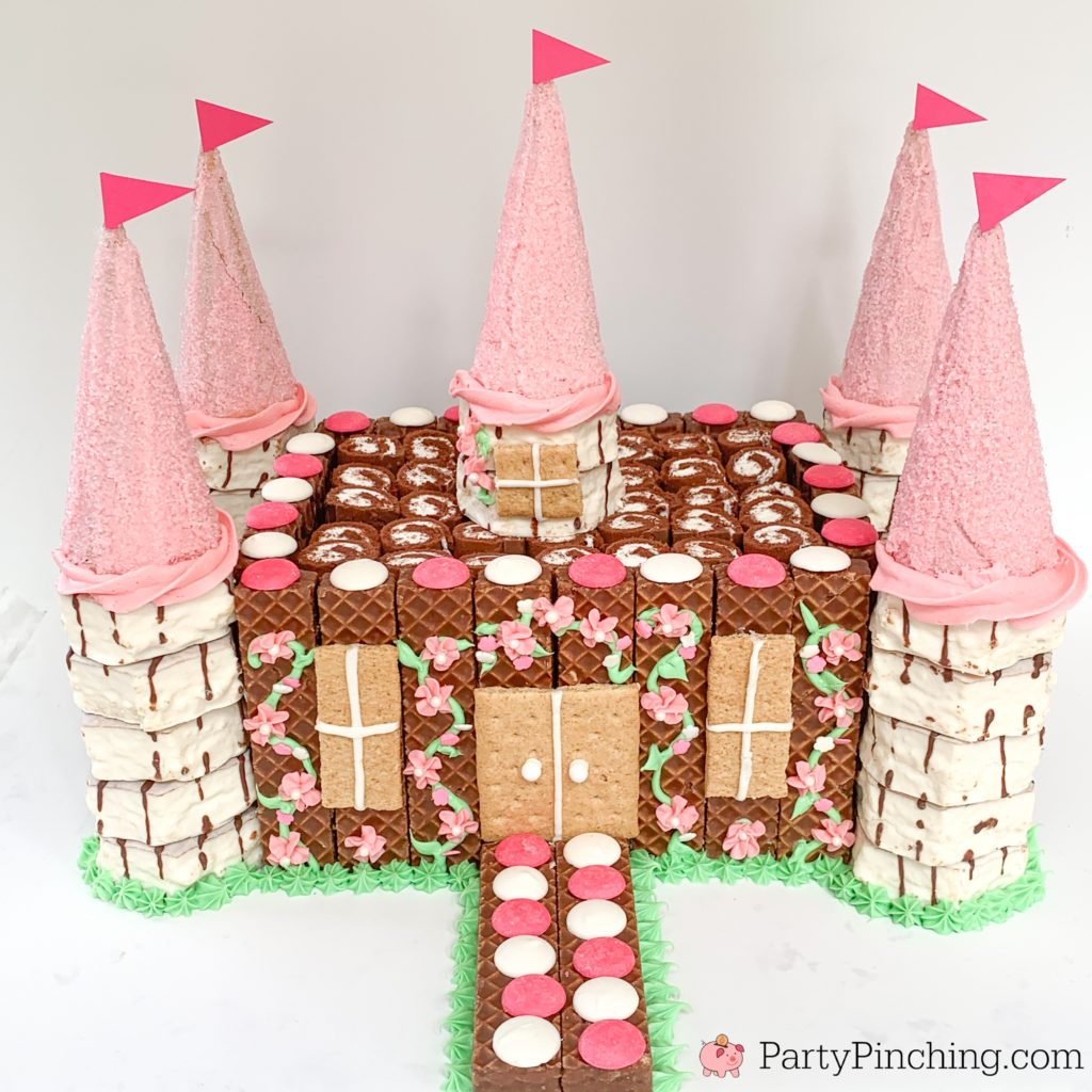 Castle Cake, Easy Castle Cake, Best Princess Party Ideas, Pink Princess Cake, Little Debbie Castle Cake, Fun Easy Creative Birthday Cake Ideas and Recipes, Fun Cakes for Kids, Best Birthday Cake Recipes