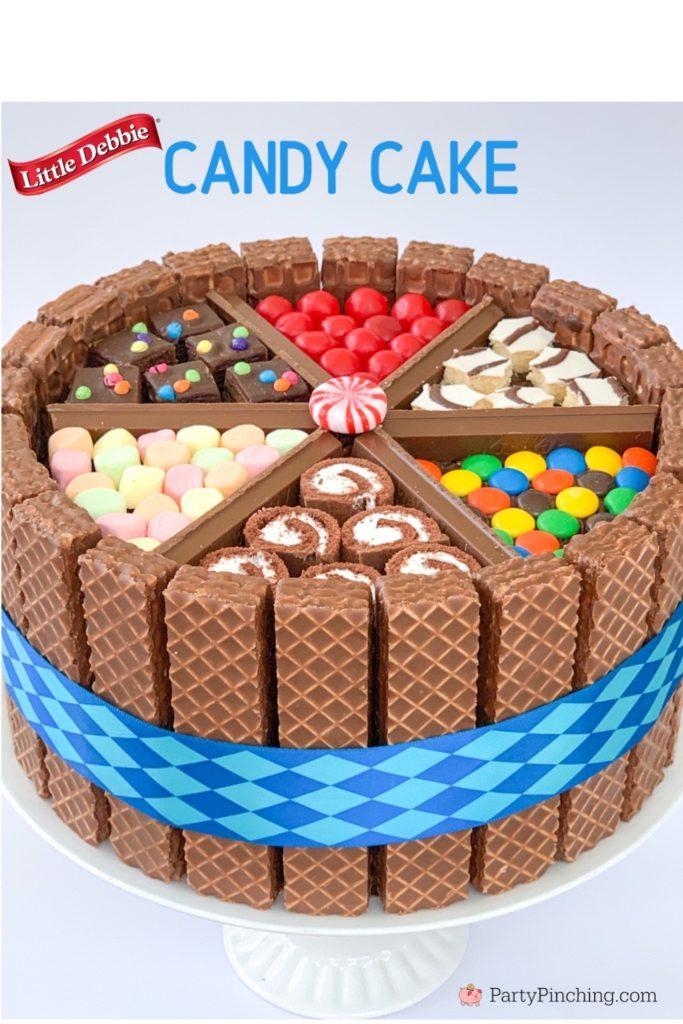 Candy Cake, Ultimate Cake, Easy Amazing Cake, Kids Party Cake, Easy Birthday Cake Ideas, Best Birthday Cake, Little Debbie Cake