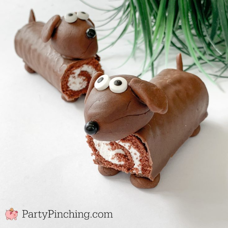 Swiss Roll Dog Cakes