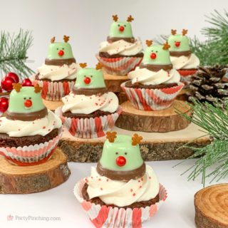 Minty Bell Reindeer Brownies, Best Christmas Dessert Recipes, Cute Reindeer Brownies, Mint Chocolate Brownies