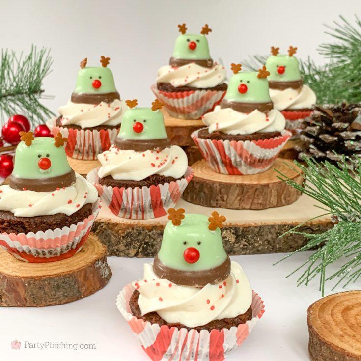 Minty Bell Reindeer Brownies