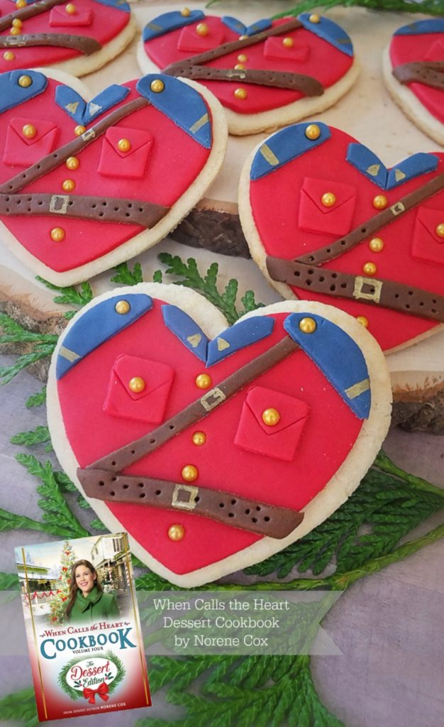 Jack's Love is Patient Mountie Cookies, When Calls the Heart, Hallmark Channel, WCTH, Hearties, #Hearties, When Calls the Heart Food and Party Ideas, Canadian Recipe Ideas, Best Canadian Desserts, Little House on The Prairie, Party Pinching, Norene Cox Author, Hope Valley,