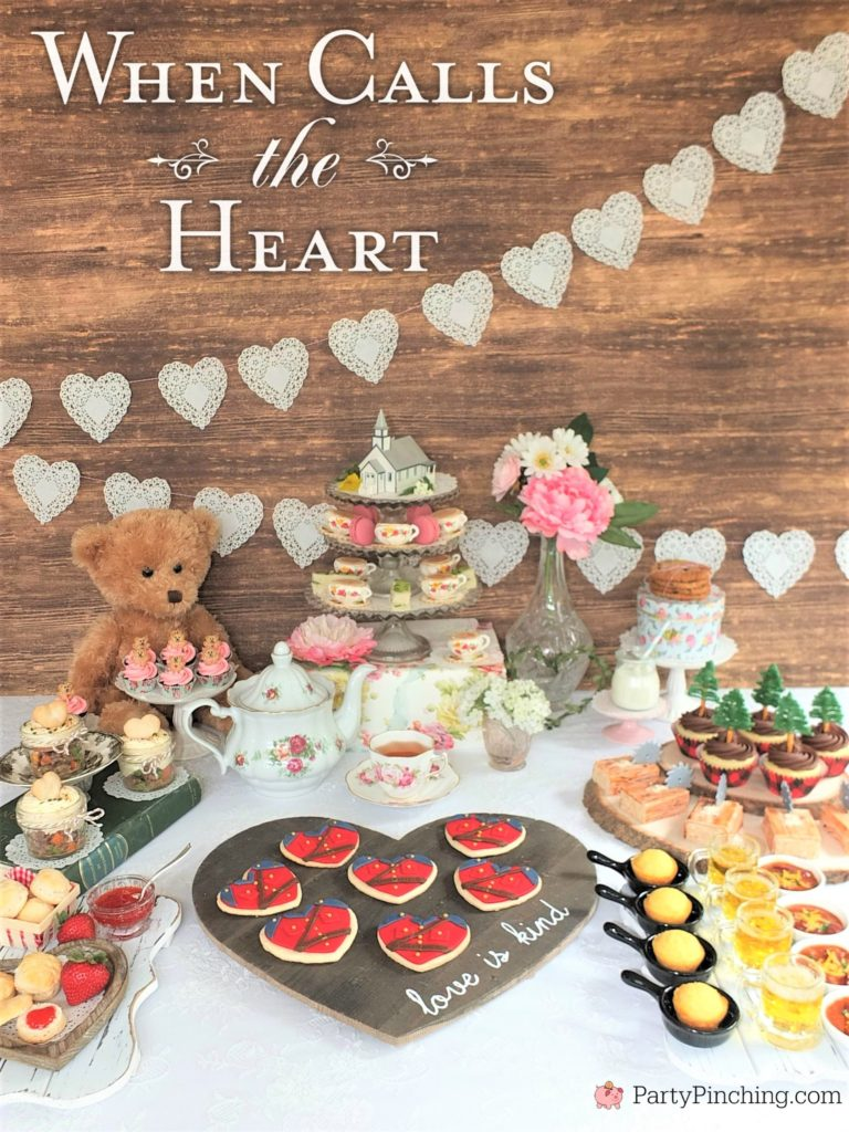When Calls the Heart, Hallmark Channel, WCTH, Hearties, #Hearties, When Calls the Heart Food and Party Ideas, Canadian Recipe Ideas, Best Canadian Desserts, Little House on The Prairie, Party Pinching, Norene Cox Author, Hope Valley,