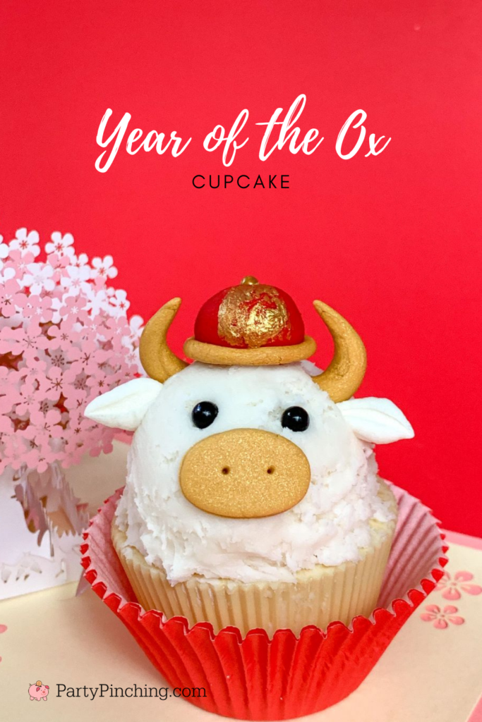 Year of the Ox Cupcake, Lunar New Year dessert, Chinese New Year dessert ideas recipe, best food recipes for Chinese New Year Lunar New year