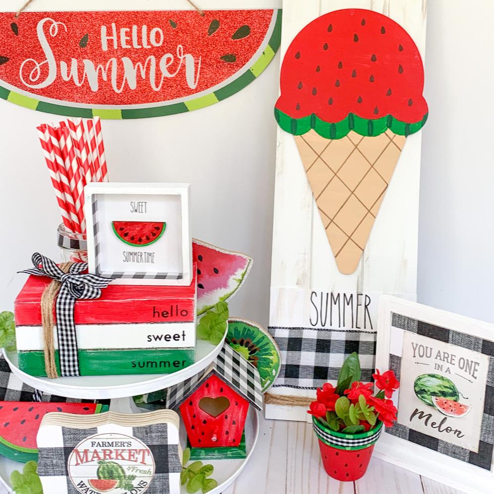 Dollar Tree DIY Watermelon crafts farmhouse decor