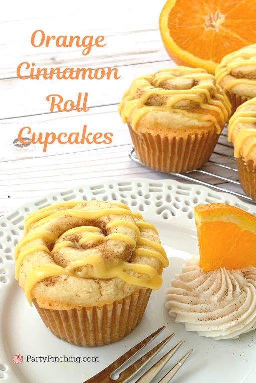 orange cinnamon roll cupcakes, best cinnamon roll recipe, best cinnamon cupcake recipe, best orange cupcake recipe, best easy cupcake recipe, best brunch idea recipes easy, easy Easter Christmas brunch recipe