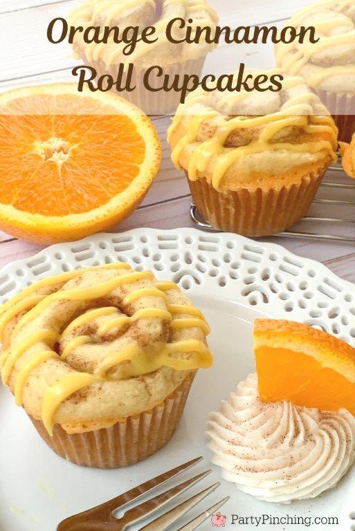 orange cinnamon roll cupcakes, best cinnamon roll recipe, best cinnamon cupcake recipe, best orange cupcake recipe, best easy cupcake recipe, best brunch idea recipes easy