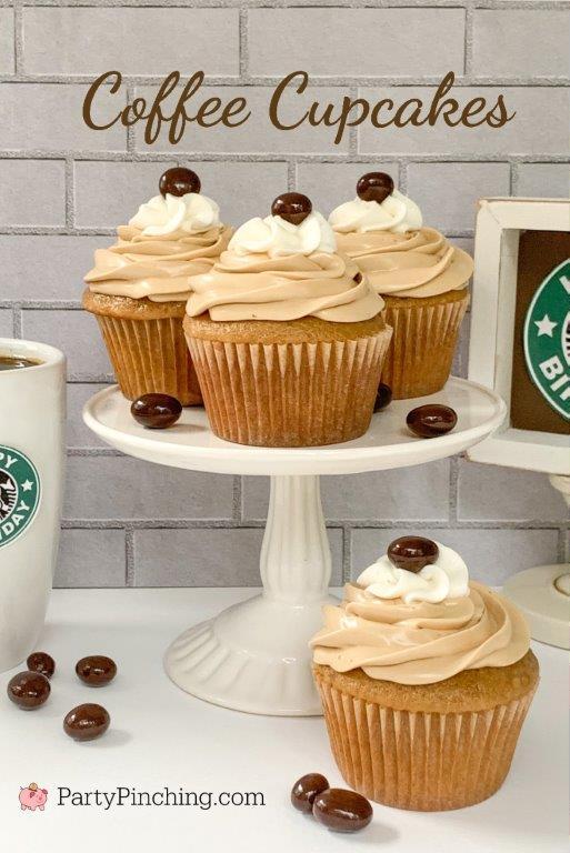 coffee cupcakes, best easy coffee cupcake recipe, box mix coffee cupcakes, starbucks coffee cupcakes, best espresso cupcakes, coffee frosting, coffee cream cheese frosting, easy coffee espresso cupcake recipe